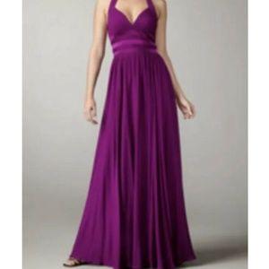 Aidan Mattox plum halter prom dress size 6 NWT 054